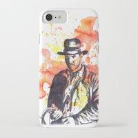 indiana jones iPhone & iPod Cases featuring Indiana Jones by idillard