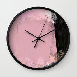 Painterly abstract 1: a modern abstract art piece Wall Clock