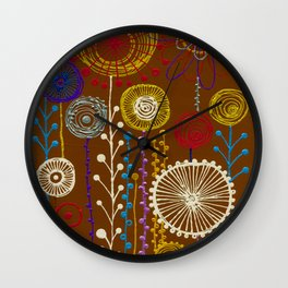 In the world of flowers Wall Clock