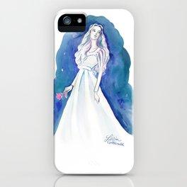 Blue Maiden iPhone Case
