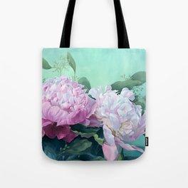 Pink Peonies The Three Sisters Floral Tote Bag