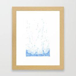 Floating Foam - a handmade pattern Framed Art Print