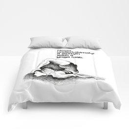 Motivational yoga quote, black and white yoga drawing, yogini, yoga gift, yoga print, quote Comforters