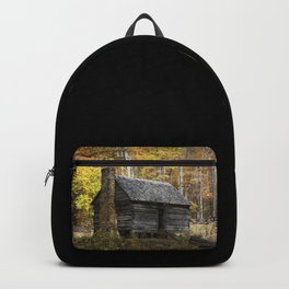 Smoky Mountain Rural Rustic Cabin Autumn View Backpack