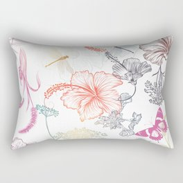 Summer field plants Rectangular Pillow
