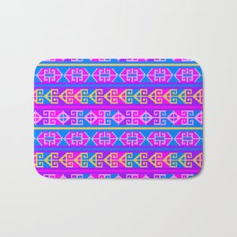 Colorful Mexican Aztec geometric pattern Bath Mat