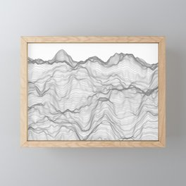 Soft Peaks Framed Mini Art Print