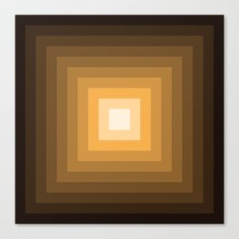 black and orange tunnel Canvas Print