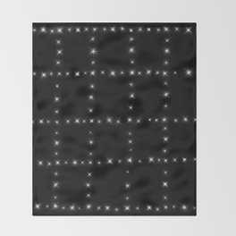 Black and White - Stars in Squares Throw Blanket
