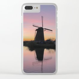Sunset at Kinderdijk in Holland Clear iPhone Case