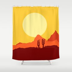Mojave desert scene Shower Curtain