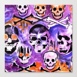 Skull and Cross Bones Canvas Print