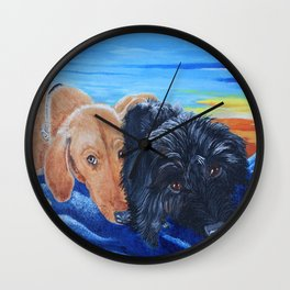 Doxies Wall Clock