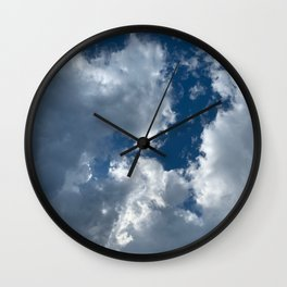 Bright sky before the storm Wall Clock