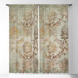 Aged Damask Texture 3 Blackout Curtain