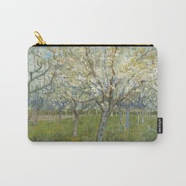 Orchard with Blooming Apricot Trees Carry-All Pouch