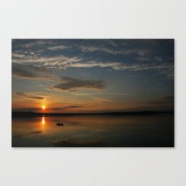 The midnight sun Canvas Print