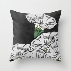 MARBLE FLOWERS (abstract) Throw Pillow