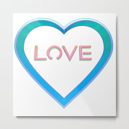 Love Heart Metal Print
