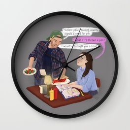 Need for Pie Wall Clock