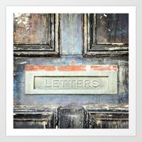 letters Art Prints featuring LETTERS by nineteeneighty