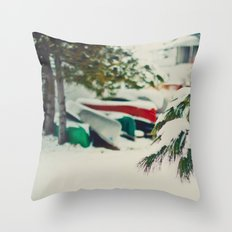 Away for the Winter Throw Pillow
