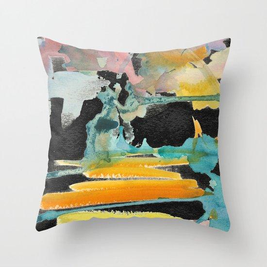 Abstract watercolour Throw Pillow