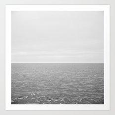 Long white sea Art Print
