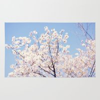 cherry blossoms Area & Throw Rugs featuring Cherry Blossoms by myhideaway