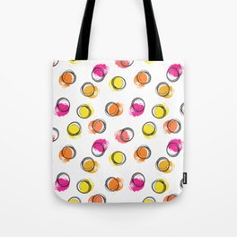 Colorful  brush blots and circle Tote Bag