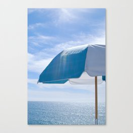 Malibu Umbrella Canvas Print