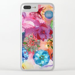 Hypotrochoid Love Clear iPhone Case