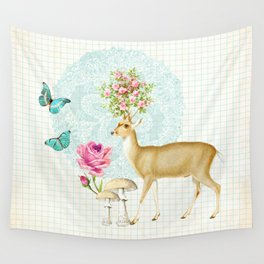 Doily deer Wall Tapestry