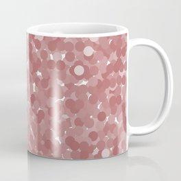 Dusty Cedar Polka Dot Bubbles Coffee Mug