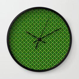 Green Plus Wall Clock