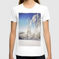 ski T-shirts featuring Ski  by David Nadeau