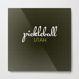 Utah Pickleball State Colors Metal Print