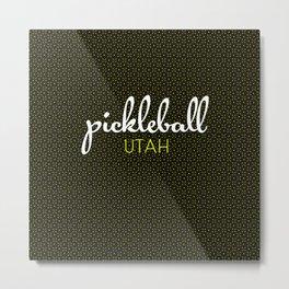 Utah Pickleball State Colors Metal Print