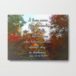 Tennessee Fall Fine Art Print with John 12:46 NIV Metal Print