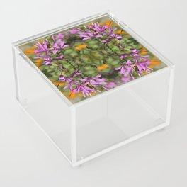 PASTEL PURPLE FLOWER  Acrylic Box