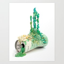 Mojito - Growth on Empty Beer Can Art Print