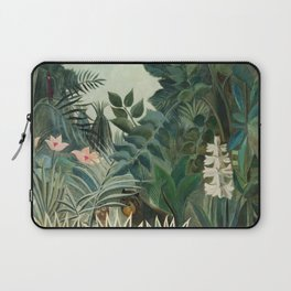 The Equatorial Jungle (1909) by Henri Rousseau Laptop Sleeve