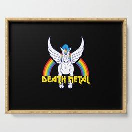 Death Metal Unicorn Serving Tray