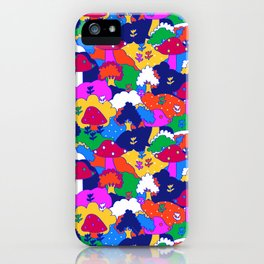 Trippy Hippie Hills iPhone Case