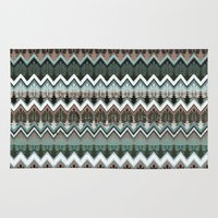 ikat Area & Throw Rugs featuring winter ikat  by Ariadne