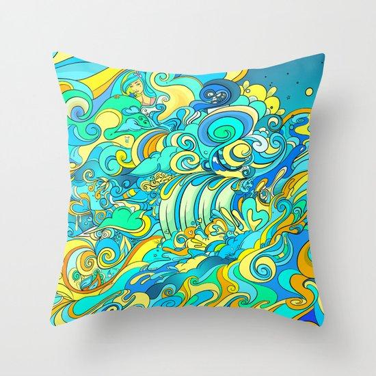 Cosmic Waterfall Throw Pillow
