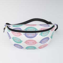 Candy Colored Monkey Heads Fanny Pack