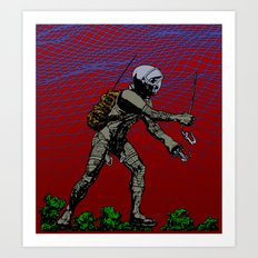 In Martian Fields Art Print