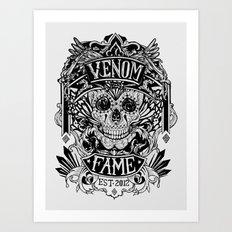 Venom Fame crest Art Print