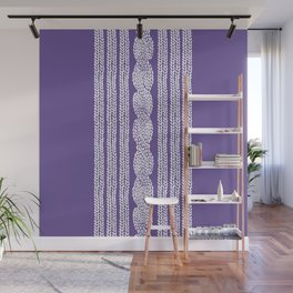 Cable Stripe Violet Wall Mural